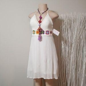 NWT! BEACH by EXIST CROCHET & FABRIC DRESS!